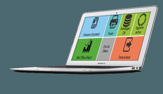 cruscotto gestione zmenu software ristorazione