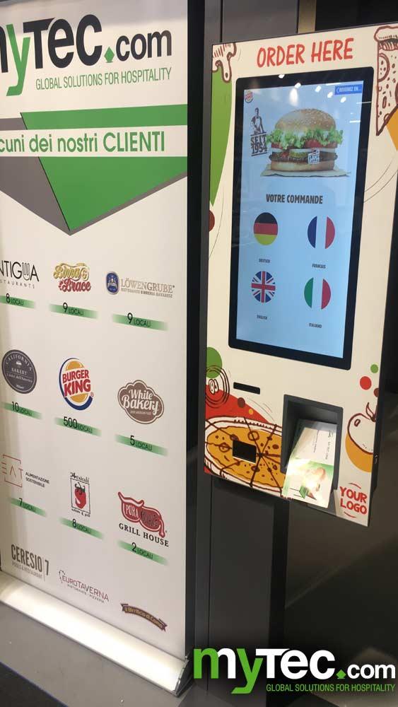 Schermi ordinazione per fast food